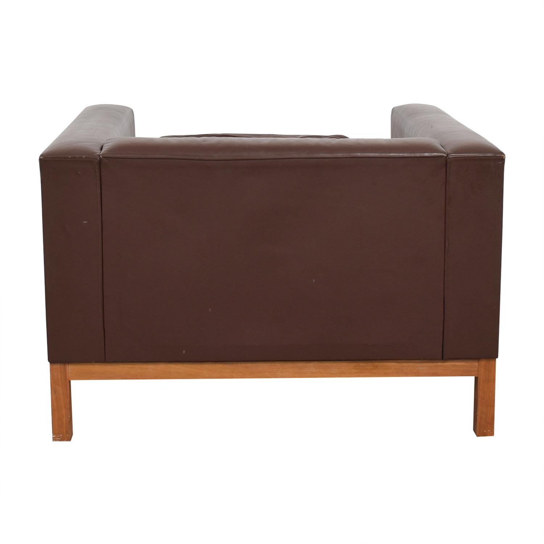 buy De La Espada Burgundy Leather Accent Sofa Chair De La Espada