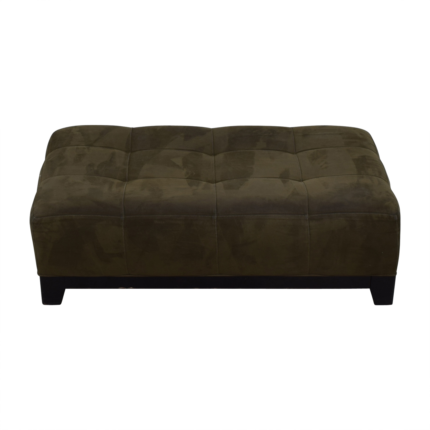 shop Raymour & Flanigan Raymour & Flanigan Brown Leather Ottoman online