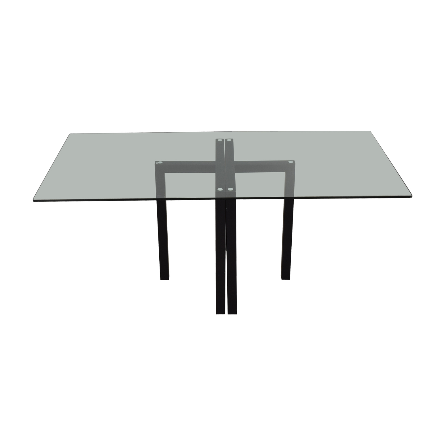 buy Crate & Barrel Glass Dining Table or Desk Crate & Barrel