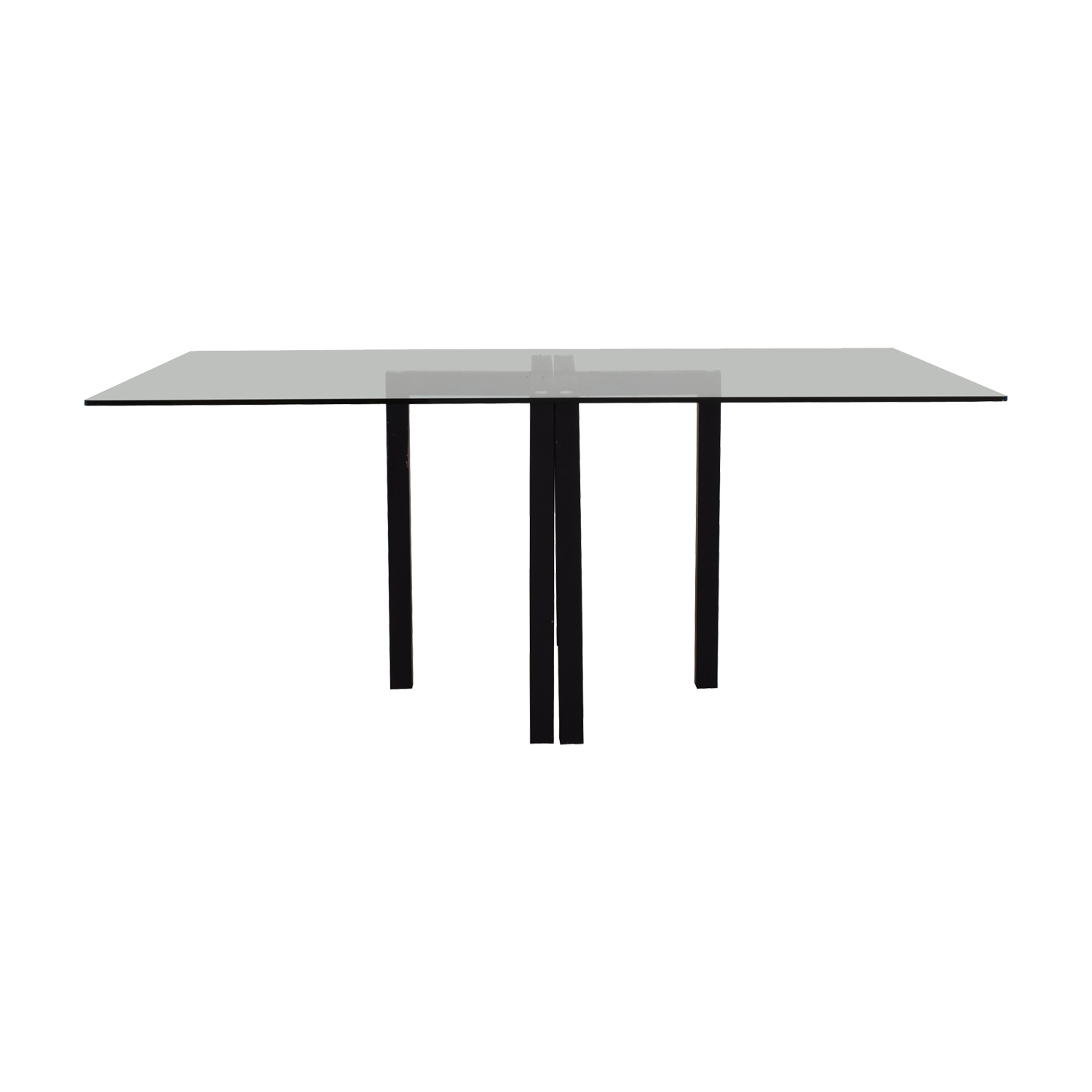 Crate & Barrel Crate & Barrel Glass Dining Table or Desk for sale