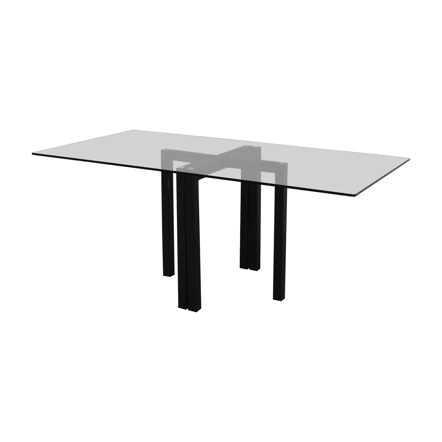 Buy Crate & Barrel Glass Dining Table Or Desk Crate