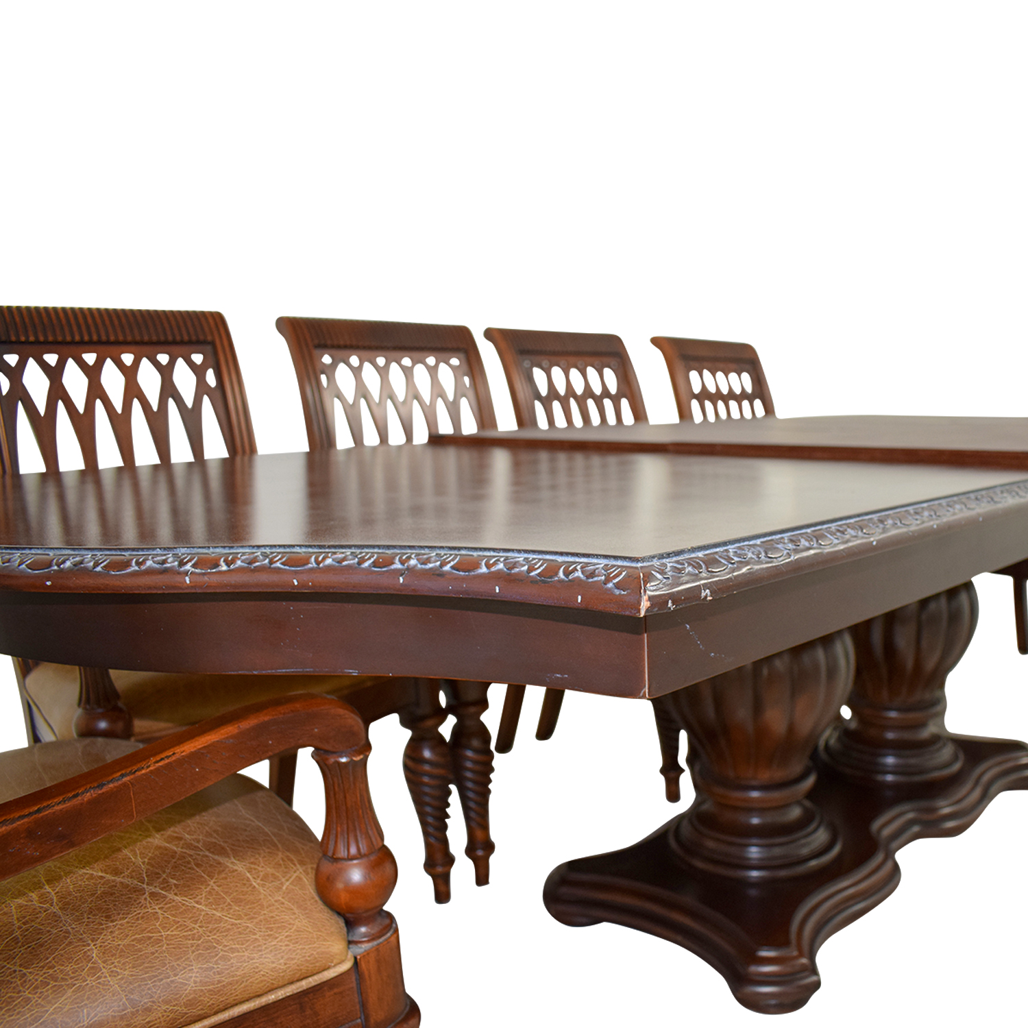 Bernhardt Cherry Double Pedestal Table Dining Set / Dining Sets