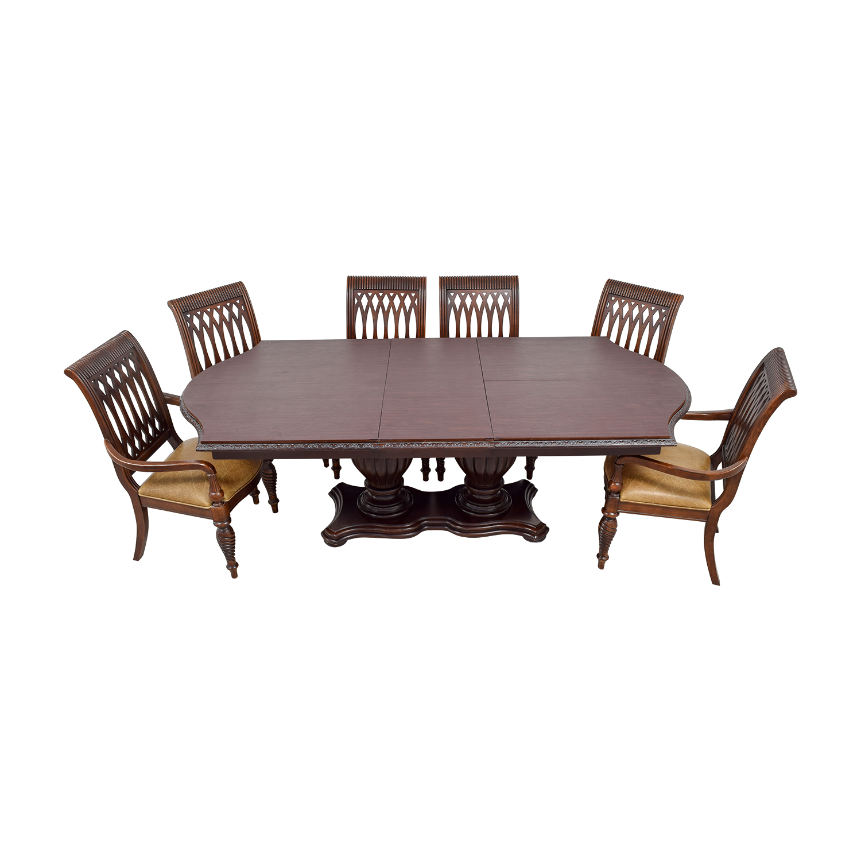 Bernhardt Bernhardt Cherry Double Pedestal Table Dining Set Tables