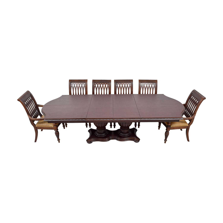 shop Bernhardt Bernhardt Cherry Double Pedestal Table Dining Set online