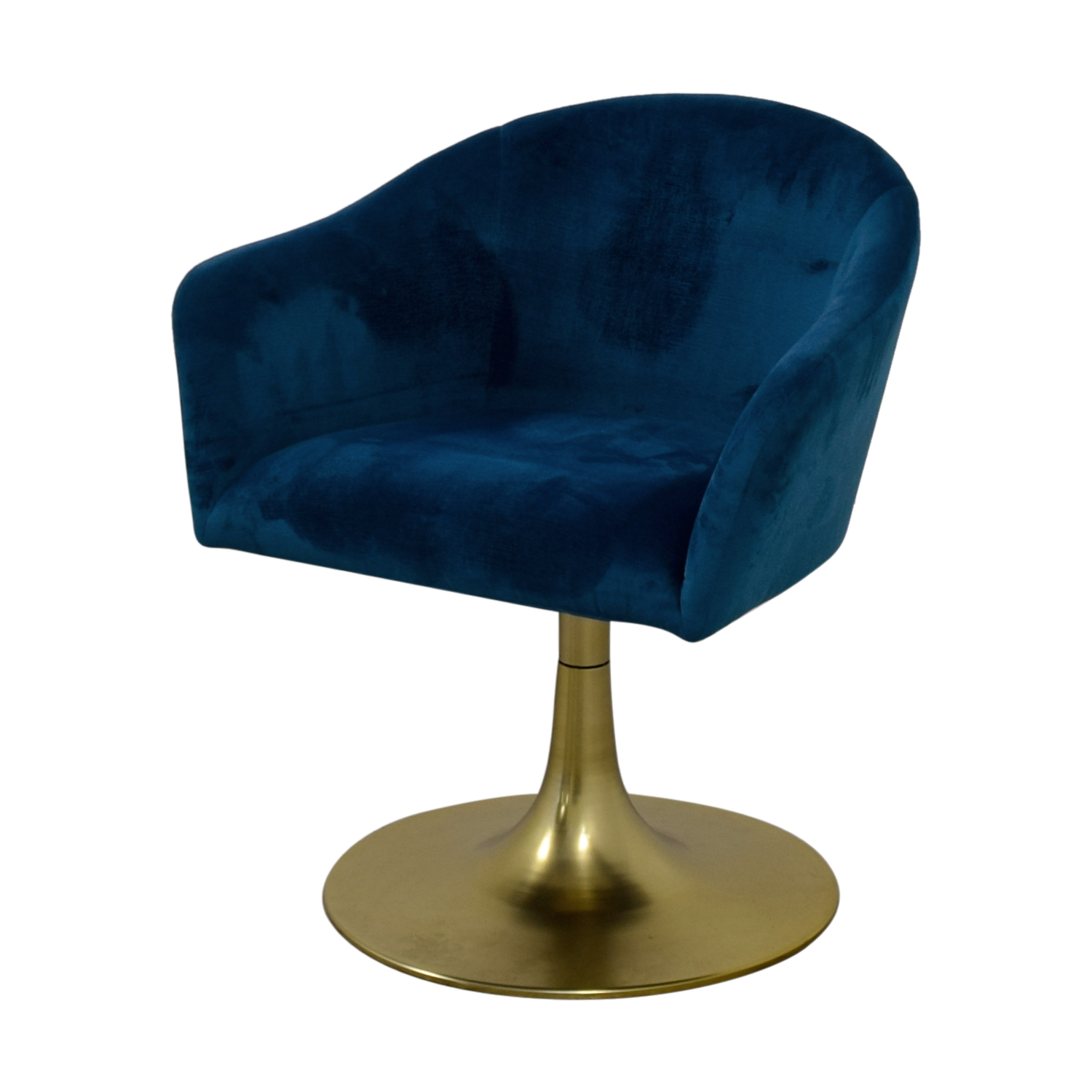 West Elm West Elm Bond Blue Velvet Swivel Chair coupon