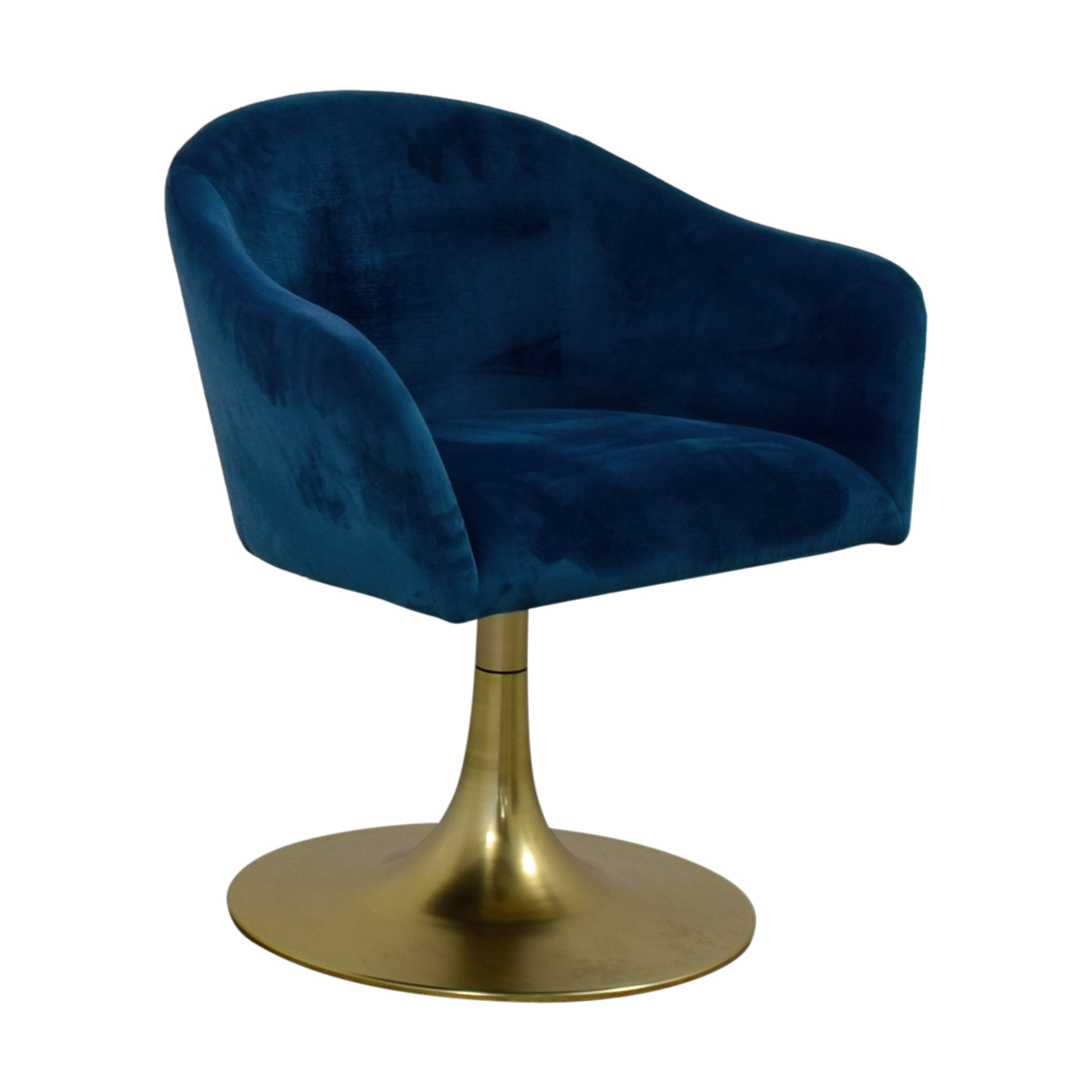 shop West Elm Bond Blue Velvet Swivel Chair West Elm Chairs