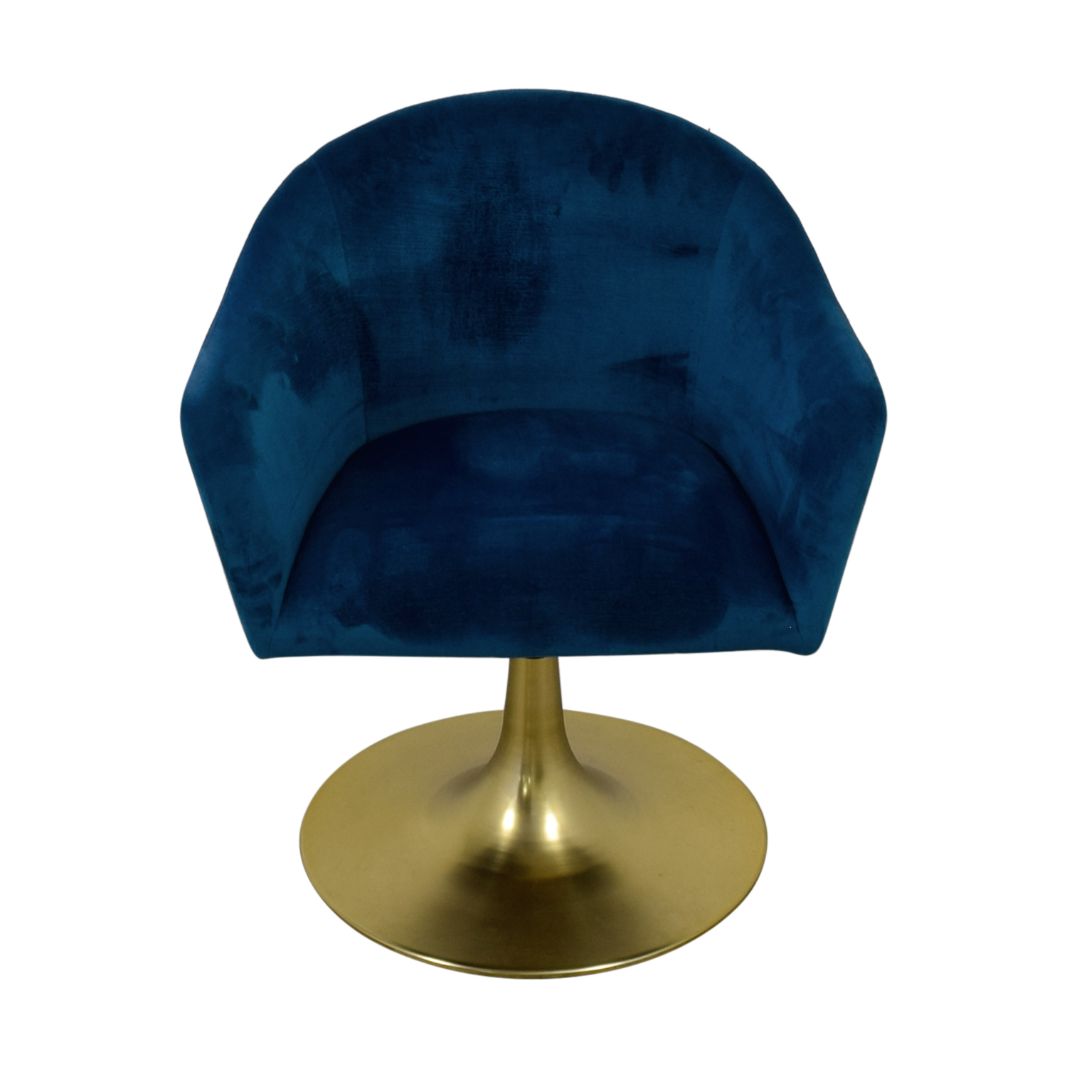 West Elm West Elm Bond Blue Velvet Swivel Chair dimensions