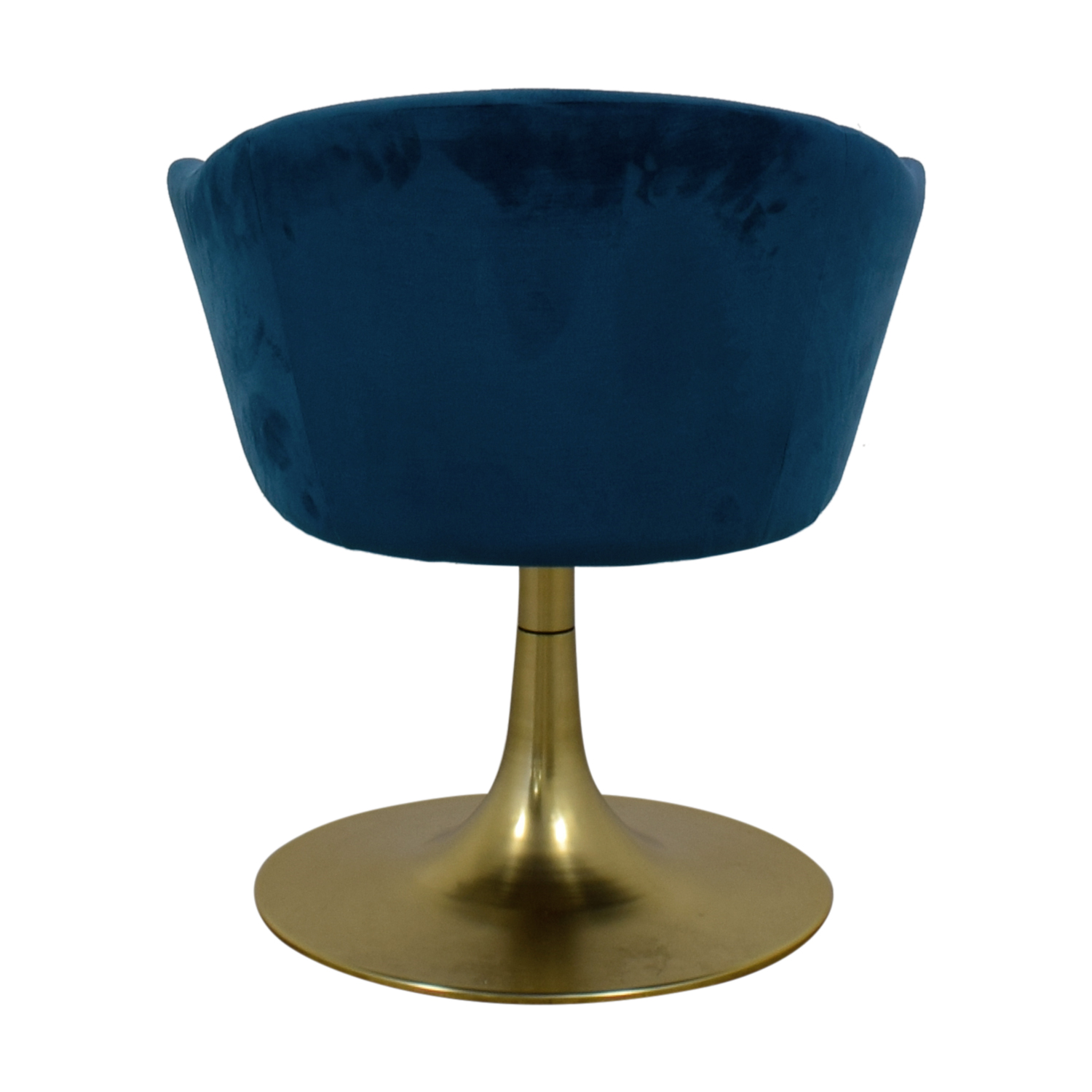 West Elm West Elm Bond Blue Velvet Swivel Chair