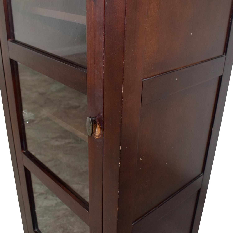 buy Crate & Barrel Bar Cabinet with Glass Door Crate & Barrel