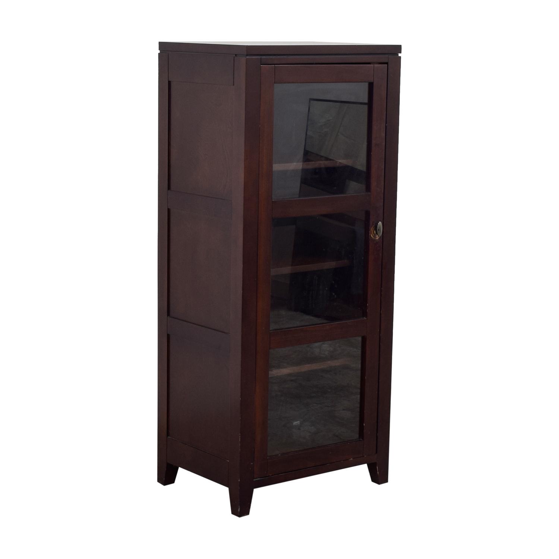 buy Crate & Barrel Bar Cabinet with Glass Door Crate & Barrel Storage