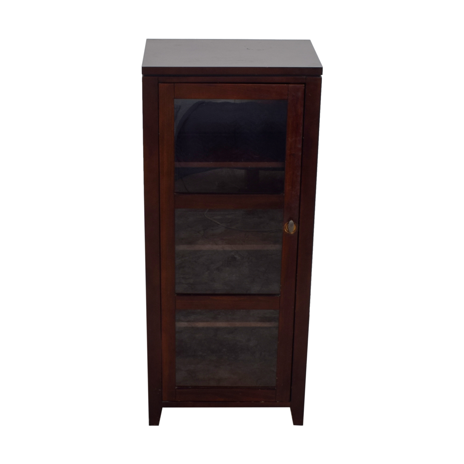 Crate & Barrel Crate & Barrel Bar Cabinet with Glass Door second hand