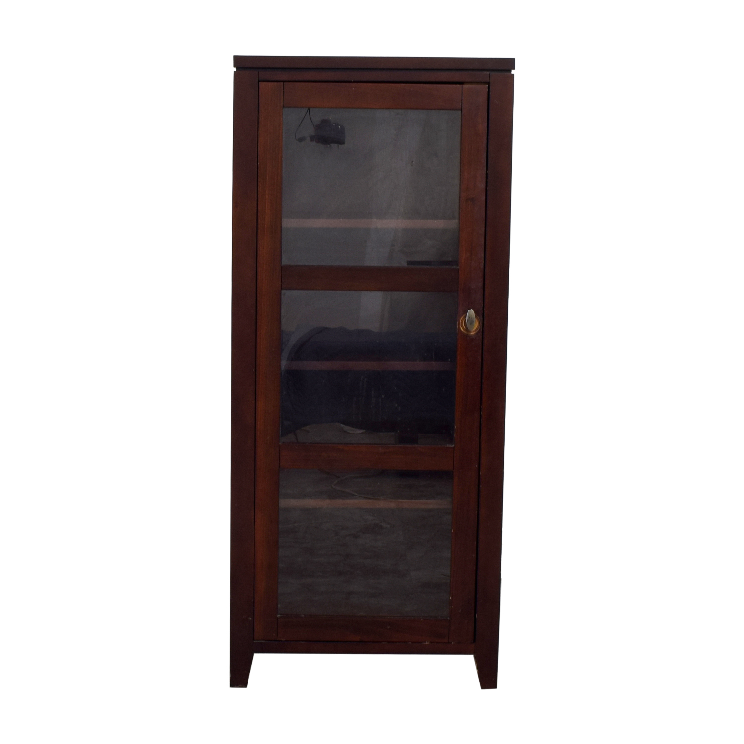 Crate & Barrel Crate & Barrel Bar Cabinet with Glass Door used