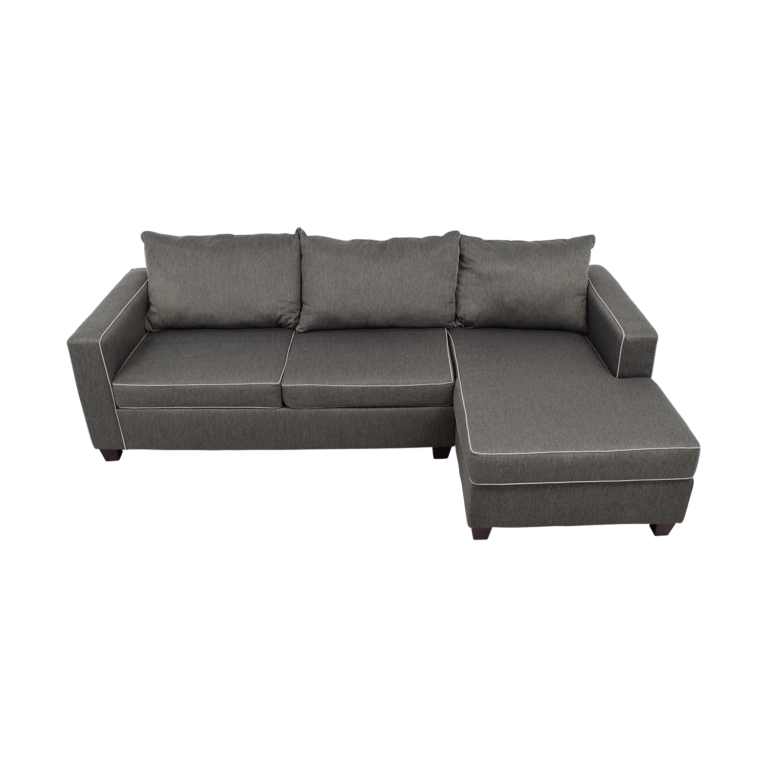 shop Bob's Furniture Alex Grey Chaise Sectional Bob's Furniture Sectionals