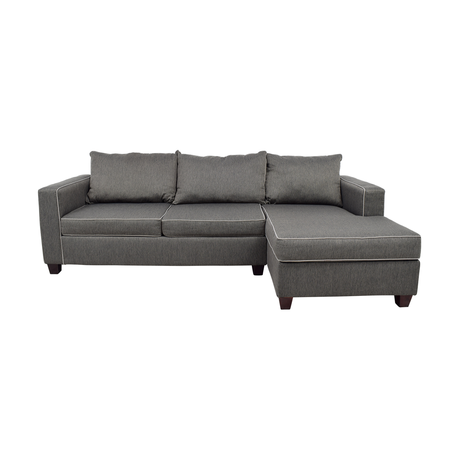 Bob's Furniture Bob's Furniture Alex Grey Chaise Sectional for sale