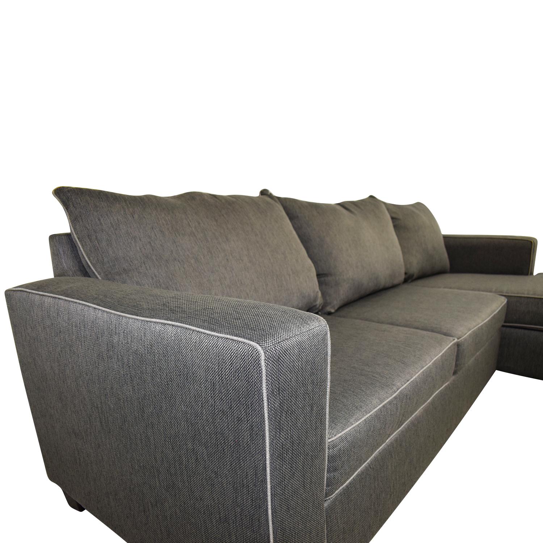 56 Off Bob S Furniture Bob S Furniture Alex Grey Chaise