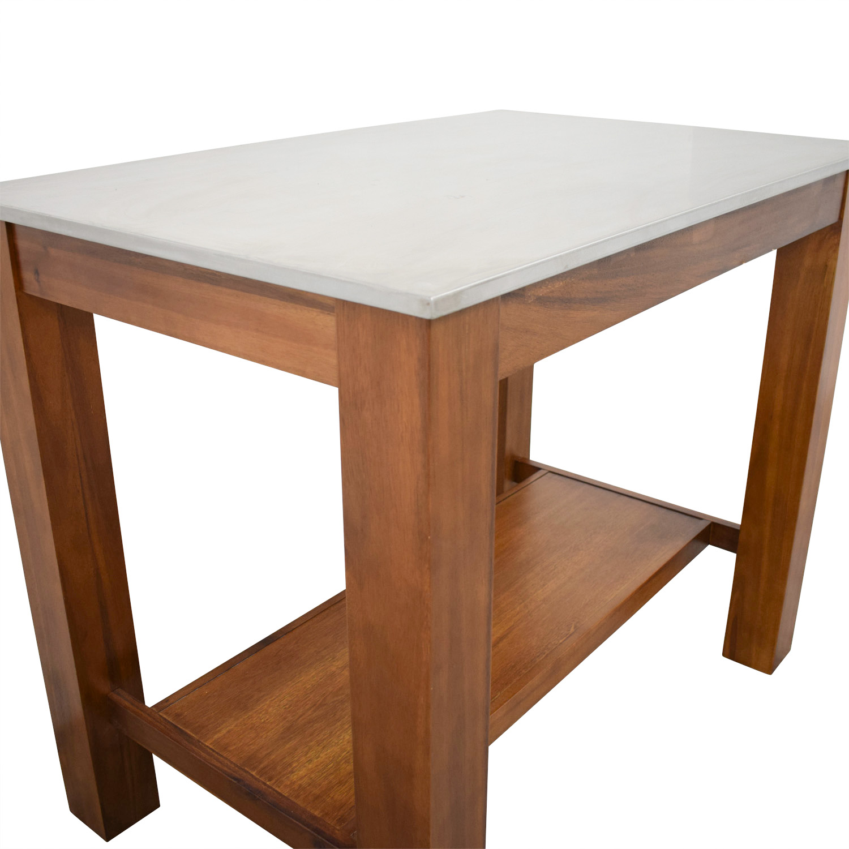 West Elm Rustic Acacia Wood Kitchen Island Tables
