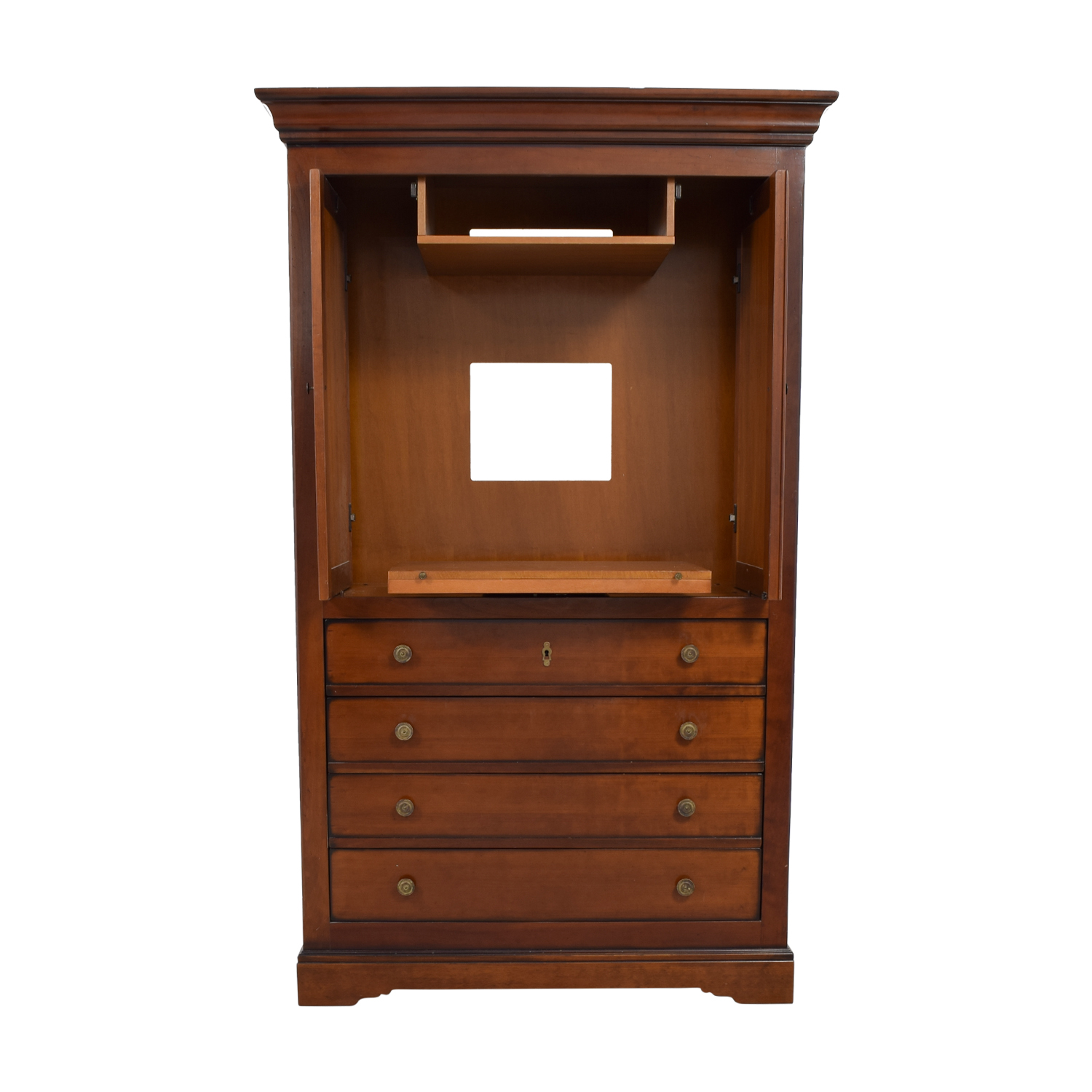 shop Grange Louis Philippe Cherry Media Armoire Grange Storage