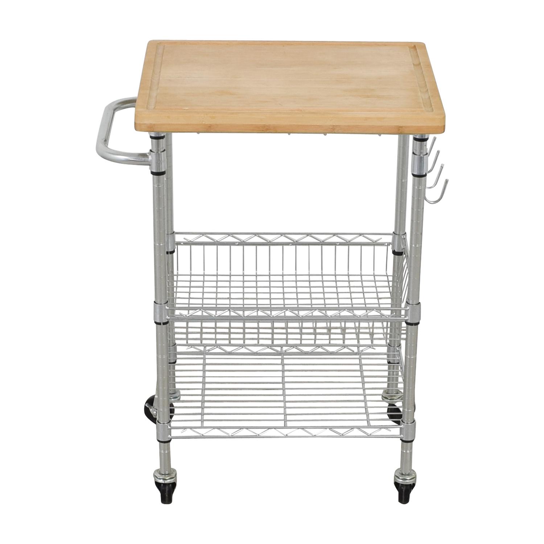 Metal Utility Storage Cart used