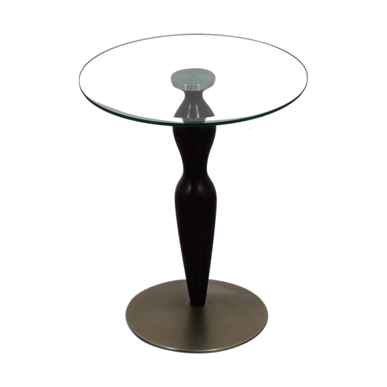 Ethan Allen Ethan Allen Glass Pedestal Table price
