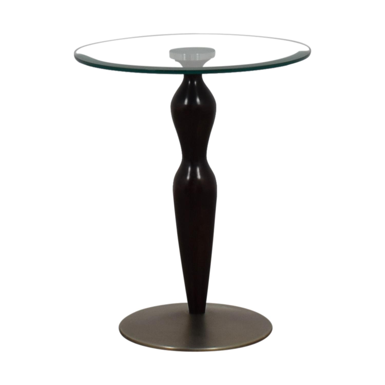 buy Ethan Allen Glass Pedestal Table Ethan Allen End Tables