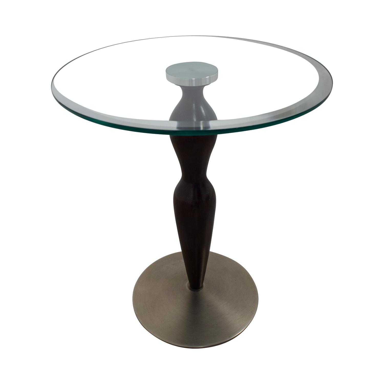 Ethan Allen Ethan Allen Glass Pedestal Table second hand
