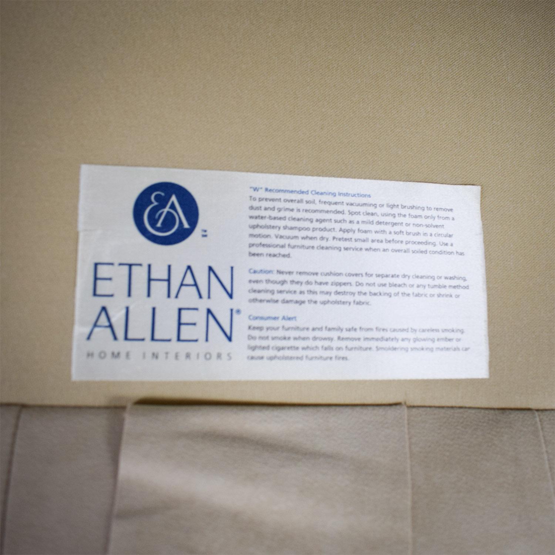 Ethan Allen Profiles Beige Tufted Single Cushion Sofa / Classic Sofas