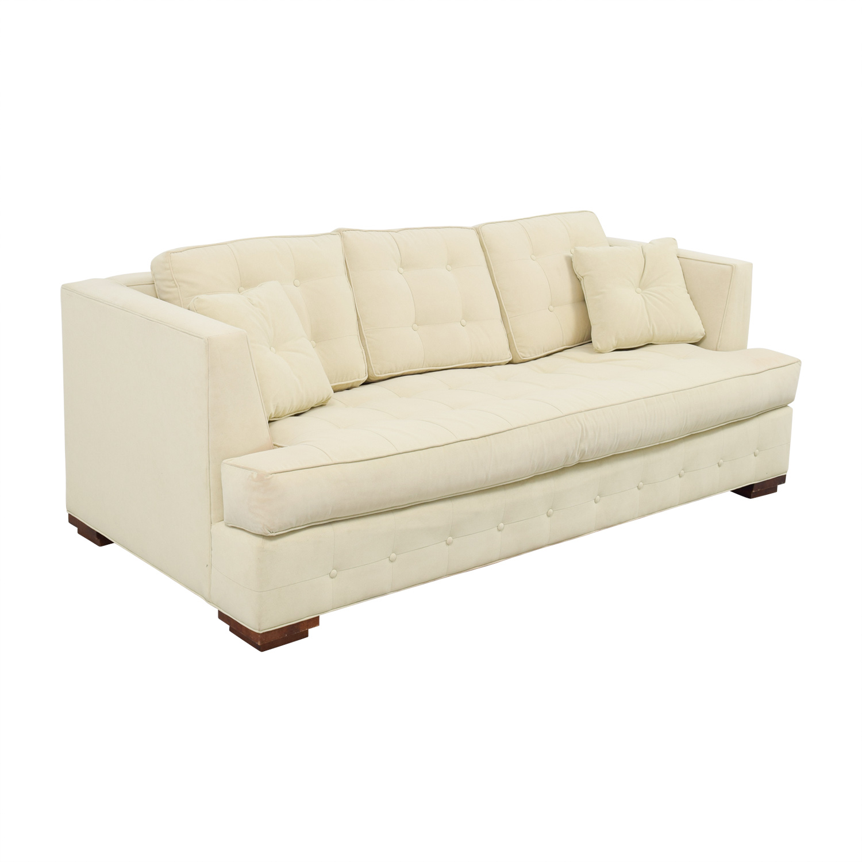 Ethan Allen Ethan Allen Profiles Beige Tufted Single Cushion Sofa dimensions