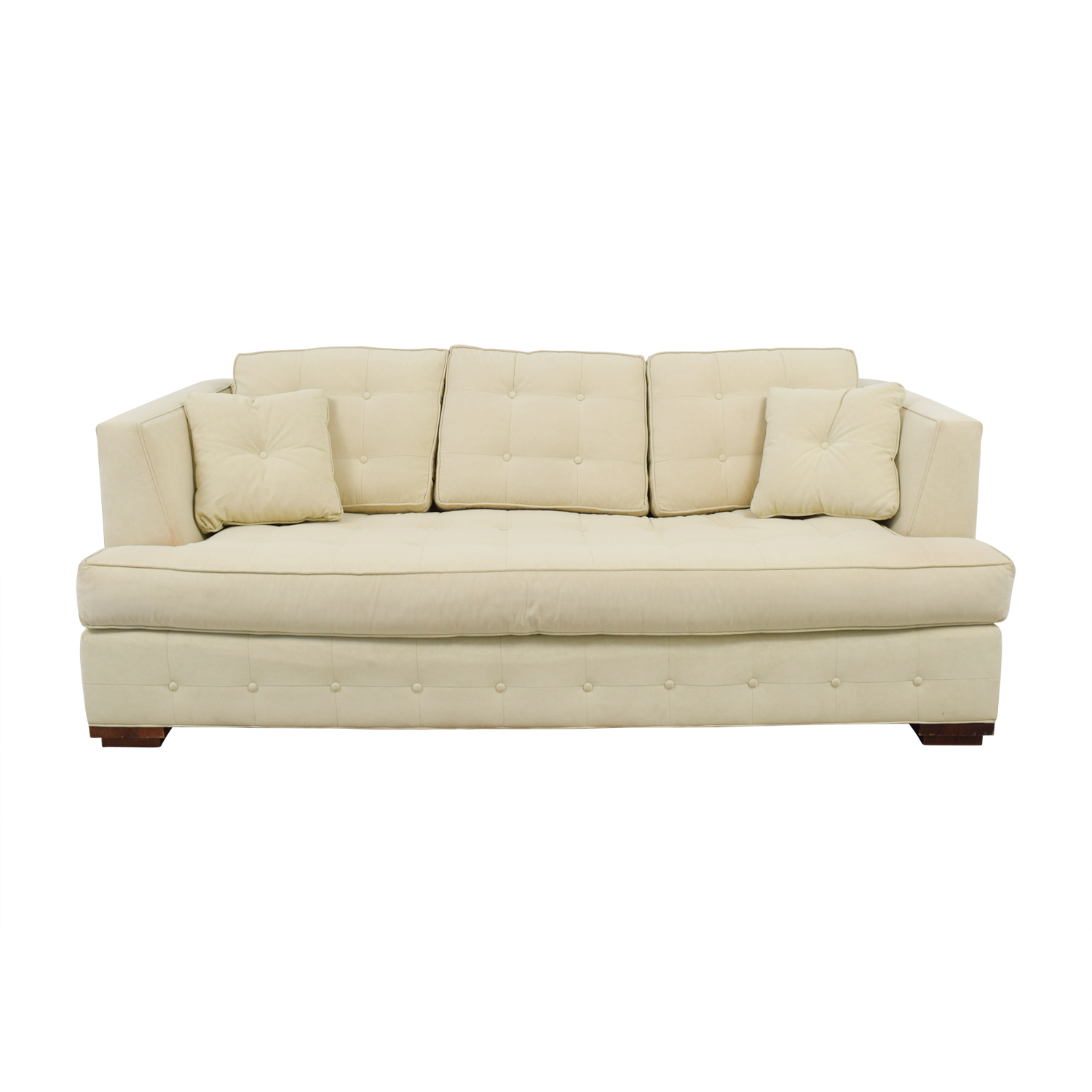 Ethan Allen Ethan Allen Profiles Beige Tufted Single Cushion Sofa price