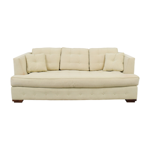 Ethan Allen Profiles Beige Tufted Single Cushion Sofa sale