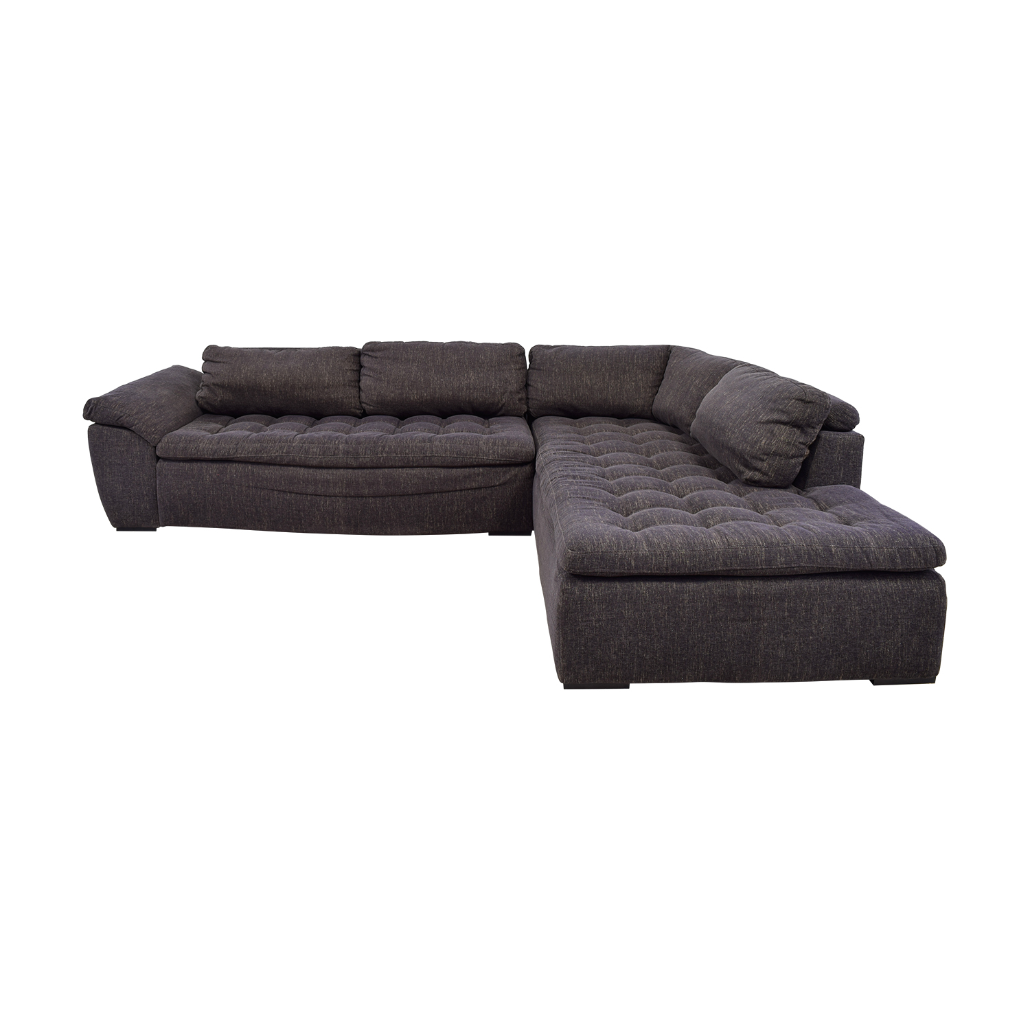 buy Purple Tufted L-Shaped Sectional