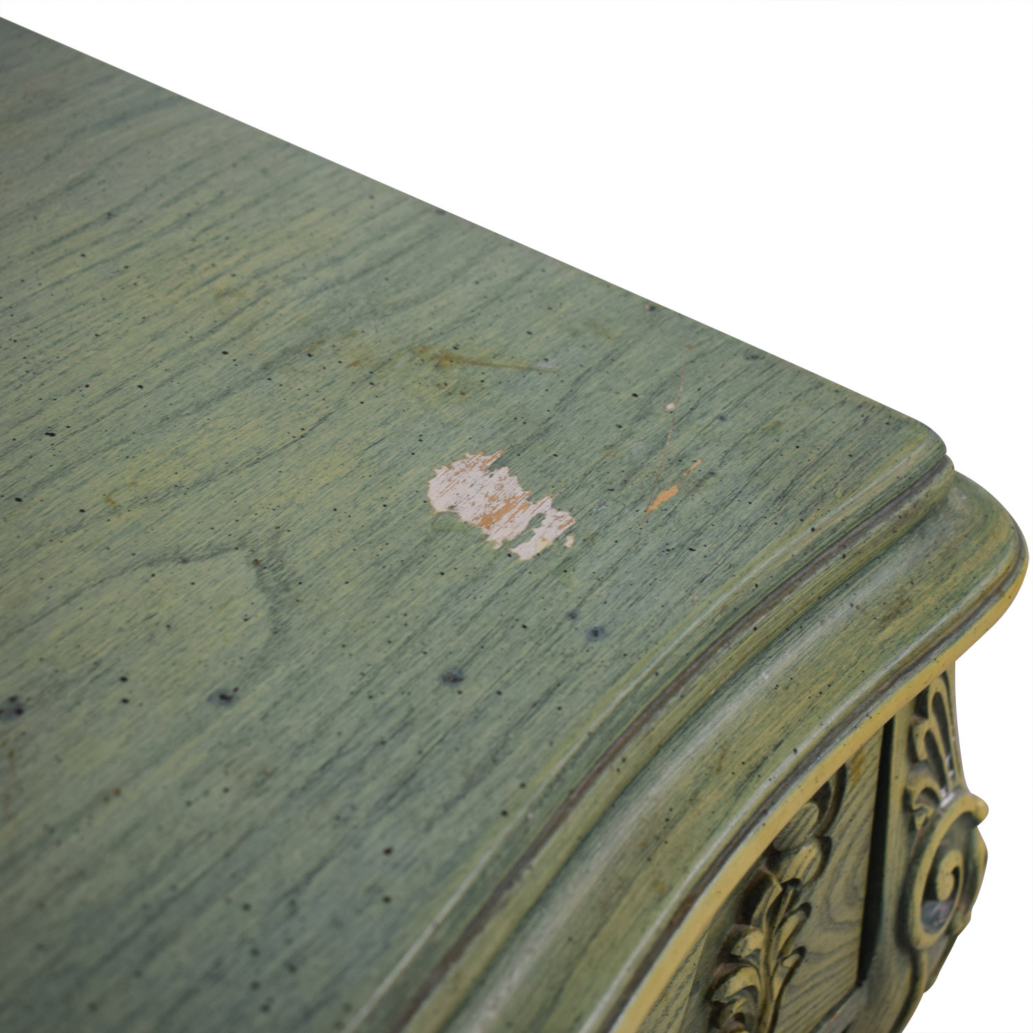 French Provincial Green Three-Drawer Nightstand nyc