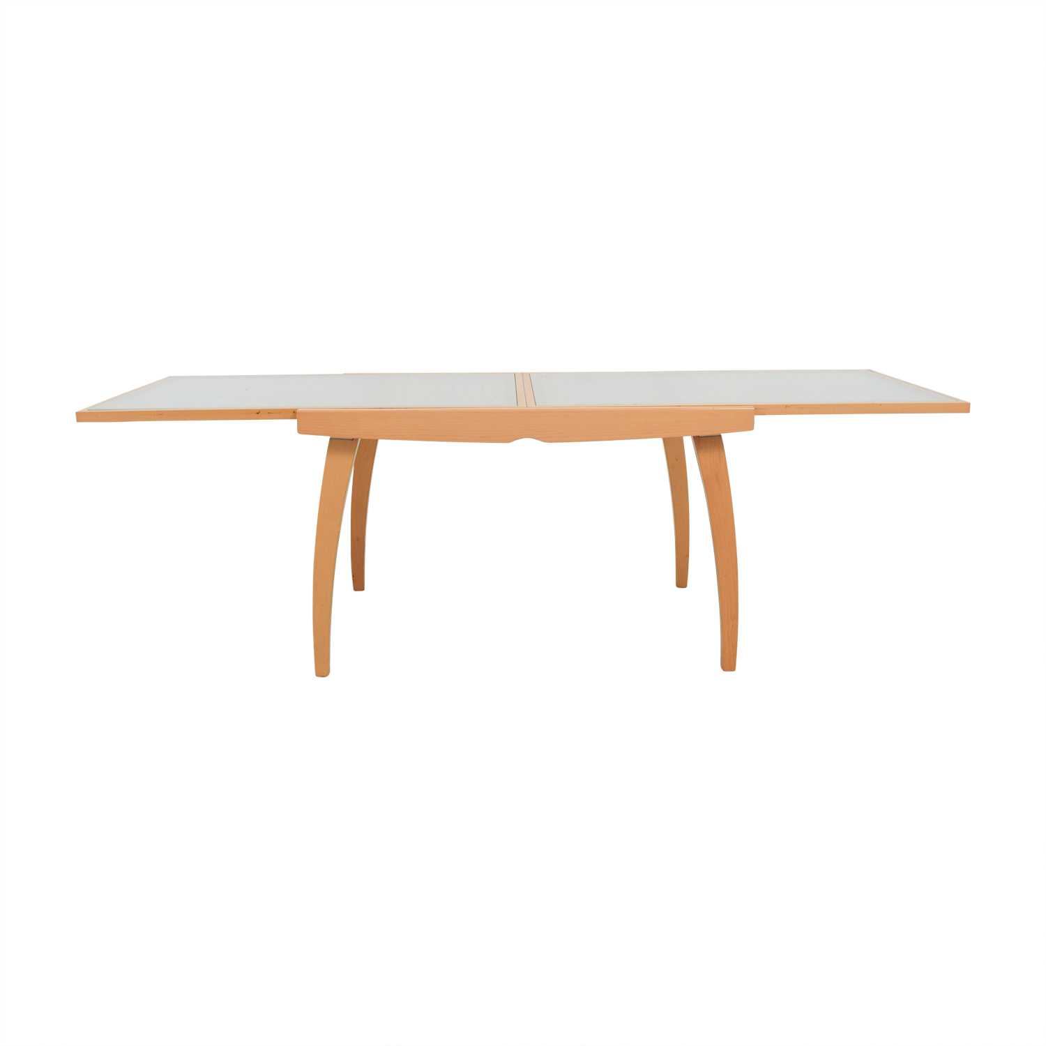 Jensen Lewis Jensen Lewis Calligaris Glass Top and Wood Base Table nj