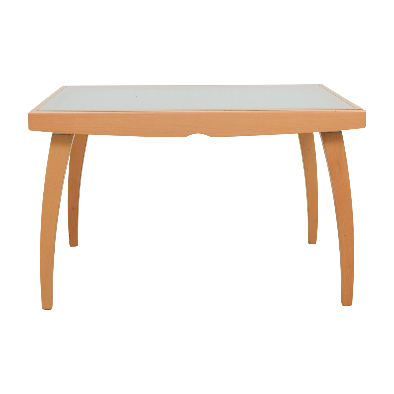 Jensen Lewis Jensen Lewis Calligaris Glass Top and Wood Base Table used