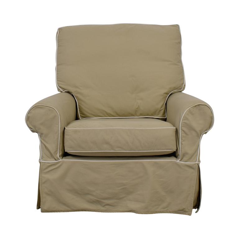 William Sonoma William Sonoma Beige Swivel Rocker Accent Chair dimensions