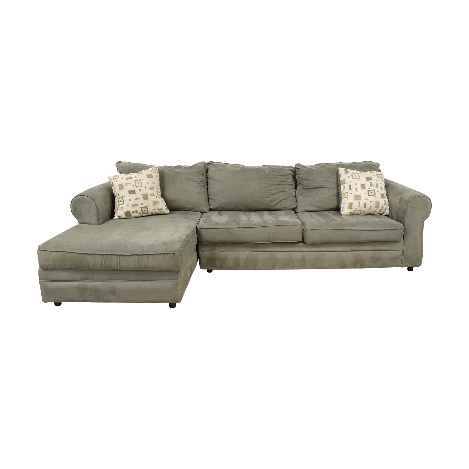 March Furniture March Furniture Green Left Arm Chaise Sectional Sofas