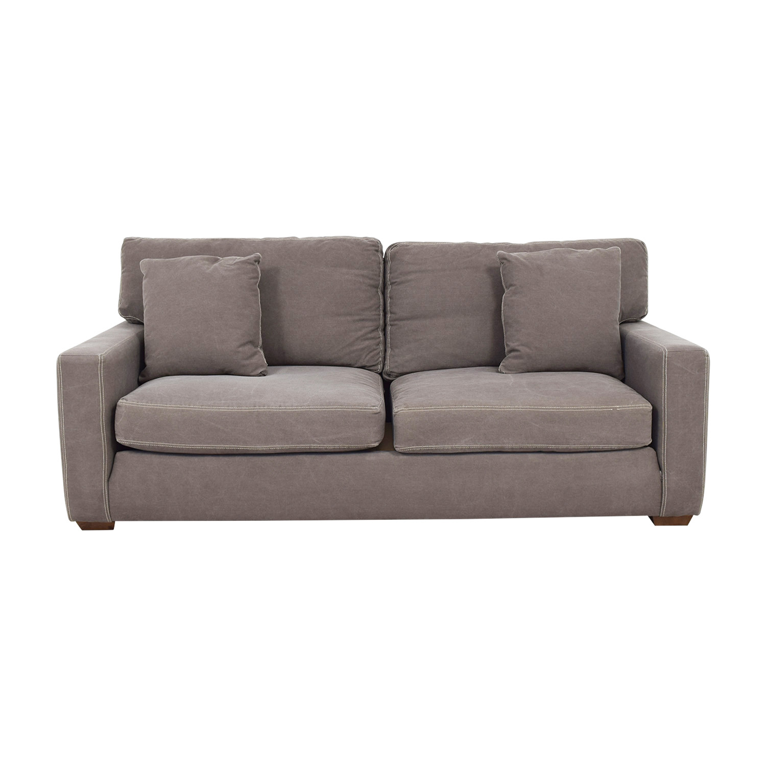 buy Klaussner Grey Canvas Two Cushion Sofa Klaussner Classic Sofas