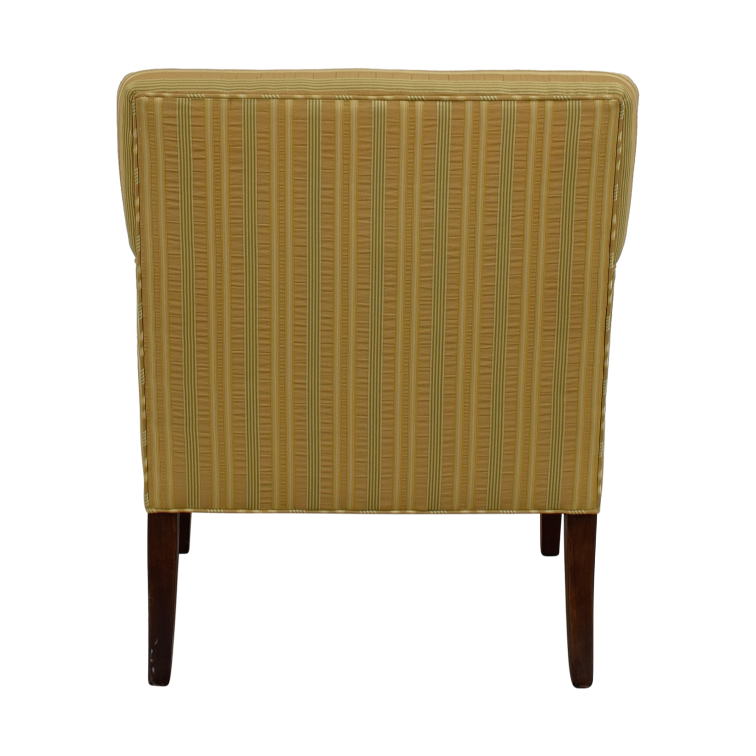 The Charles Stewart Company The Charles Stewart Company Gold Beige and Yellow Stripe Accent Chair on sale