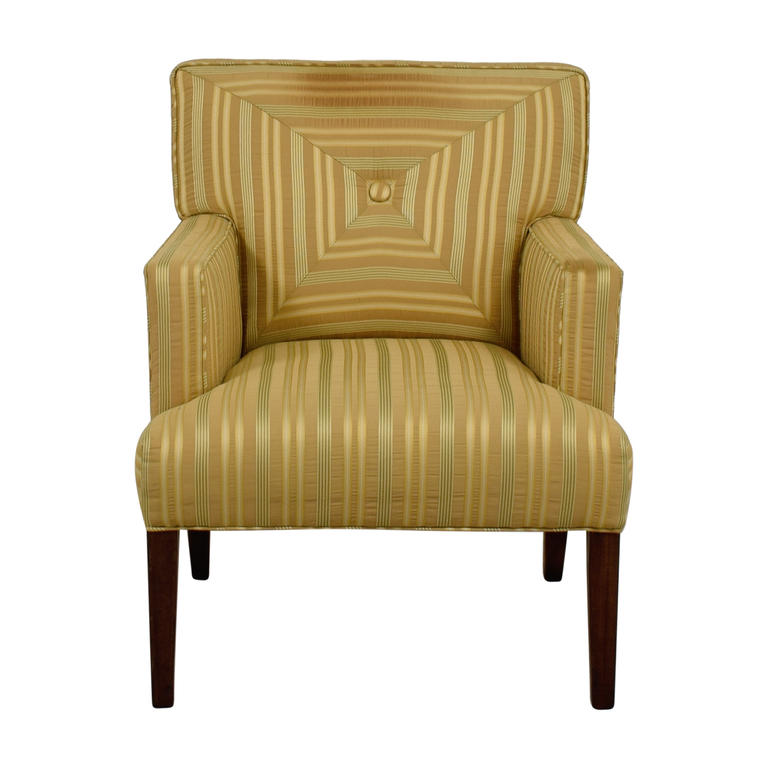 Charles Stewart Company The Charles Stewart Company Gold Beige and Yellow Stripe Accent Chair used