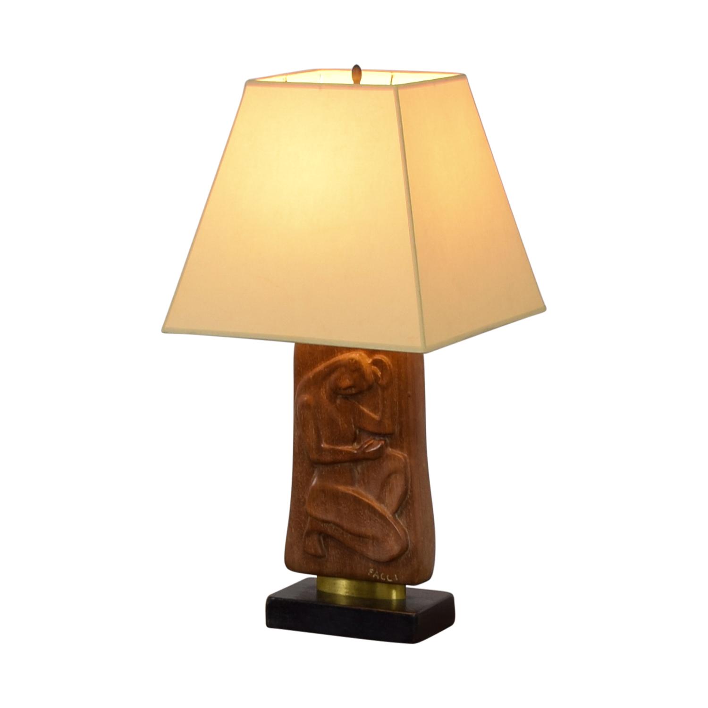 Facci Wooden Lamp Facci