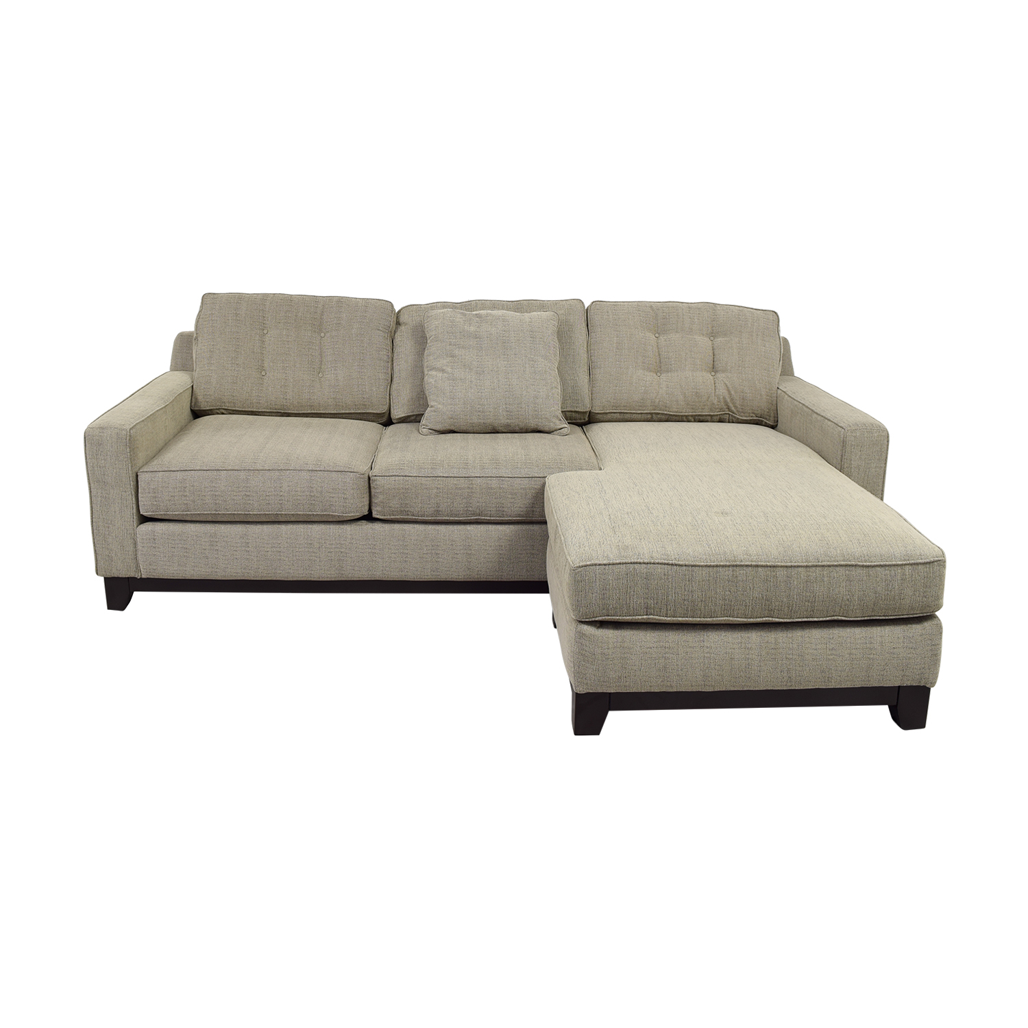 Radley Radley Beige Semi-Tufted Chaise Sectional nyc