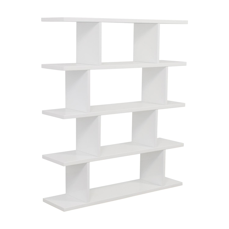 shop CB2 Modern White Bookcase CB2