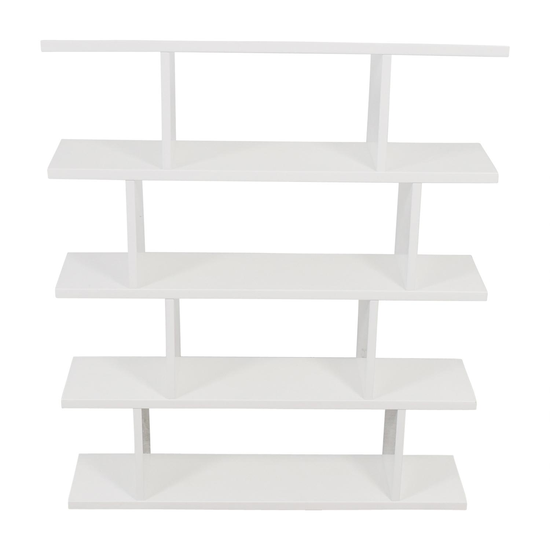 CB2 CB2 Modern White Bookcase Bookcases & Shelving