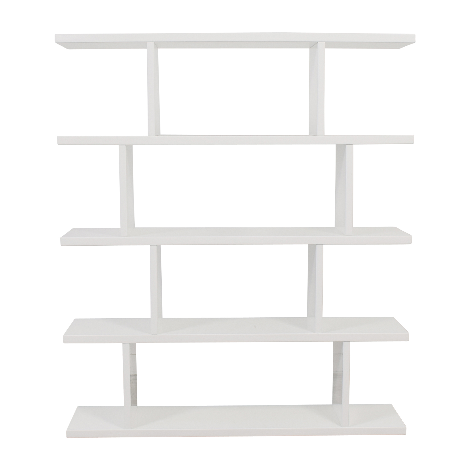 shop CB2 Modern White Bookcase CB2 Storage