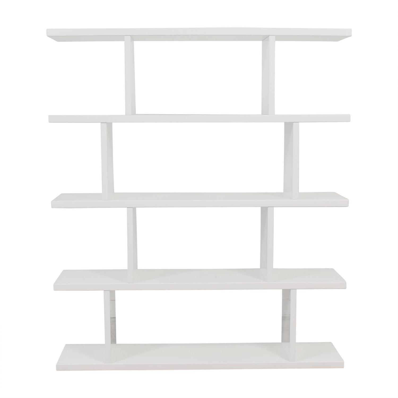 CB2 Modern White Bookcase / Bookcases & Shelving