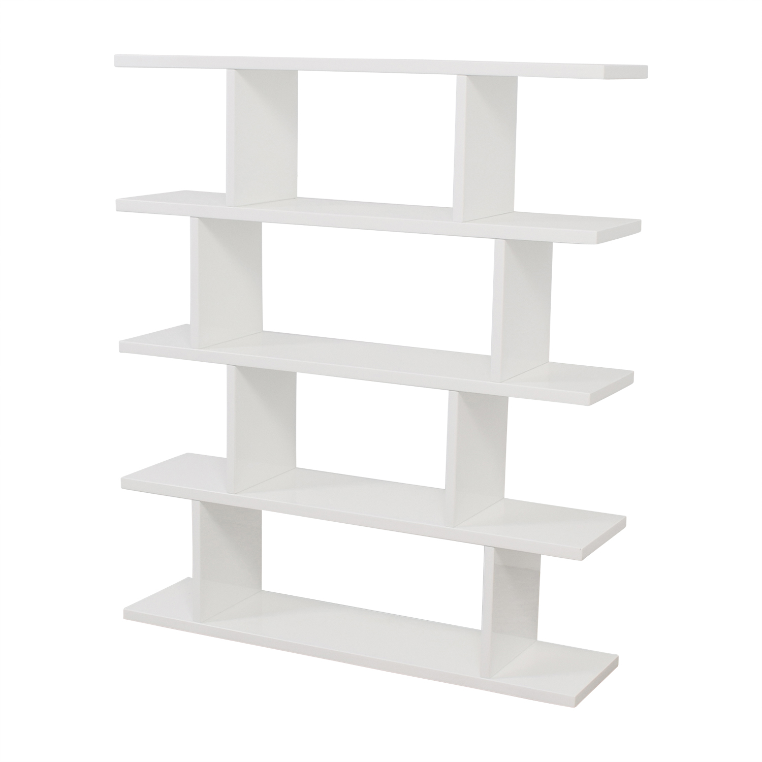 furniture modern white vig metro product gloss home bookcase bookcases inc high design contemporary by