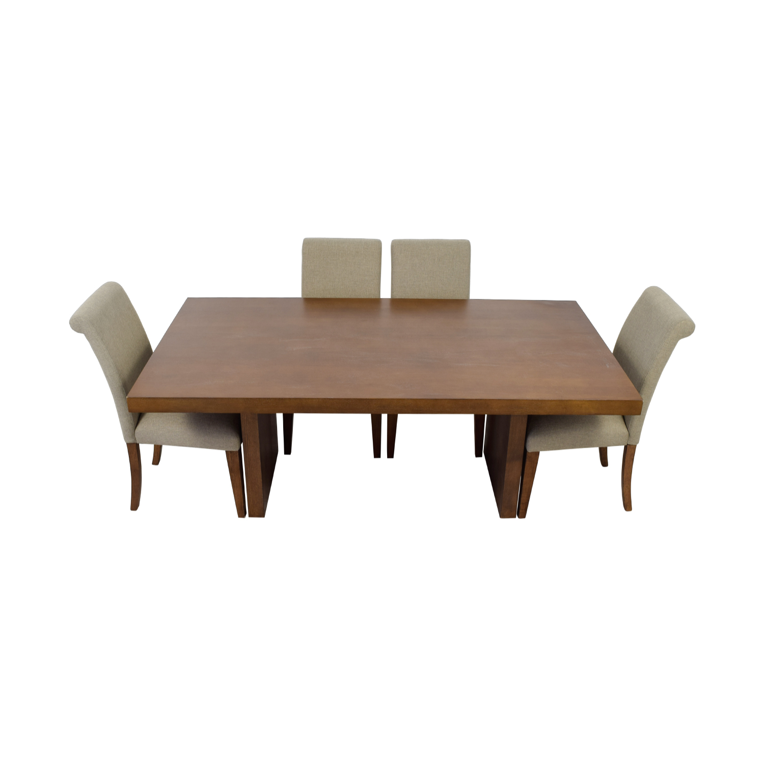 Macy's Wood Dining Set with Upholstered Chairs / Dining Sets