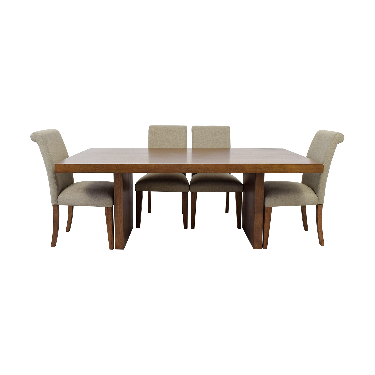 Macy's Macy's Wood Dining Set with Upholstered Chairs Dining Sets