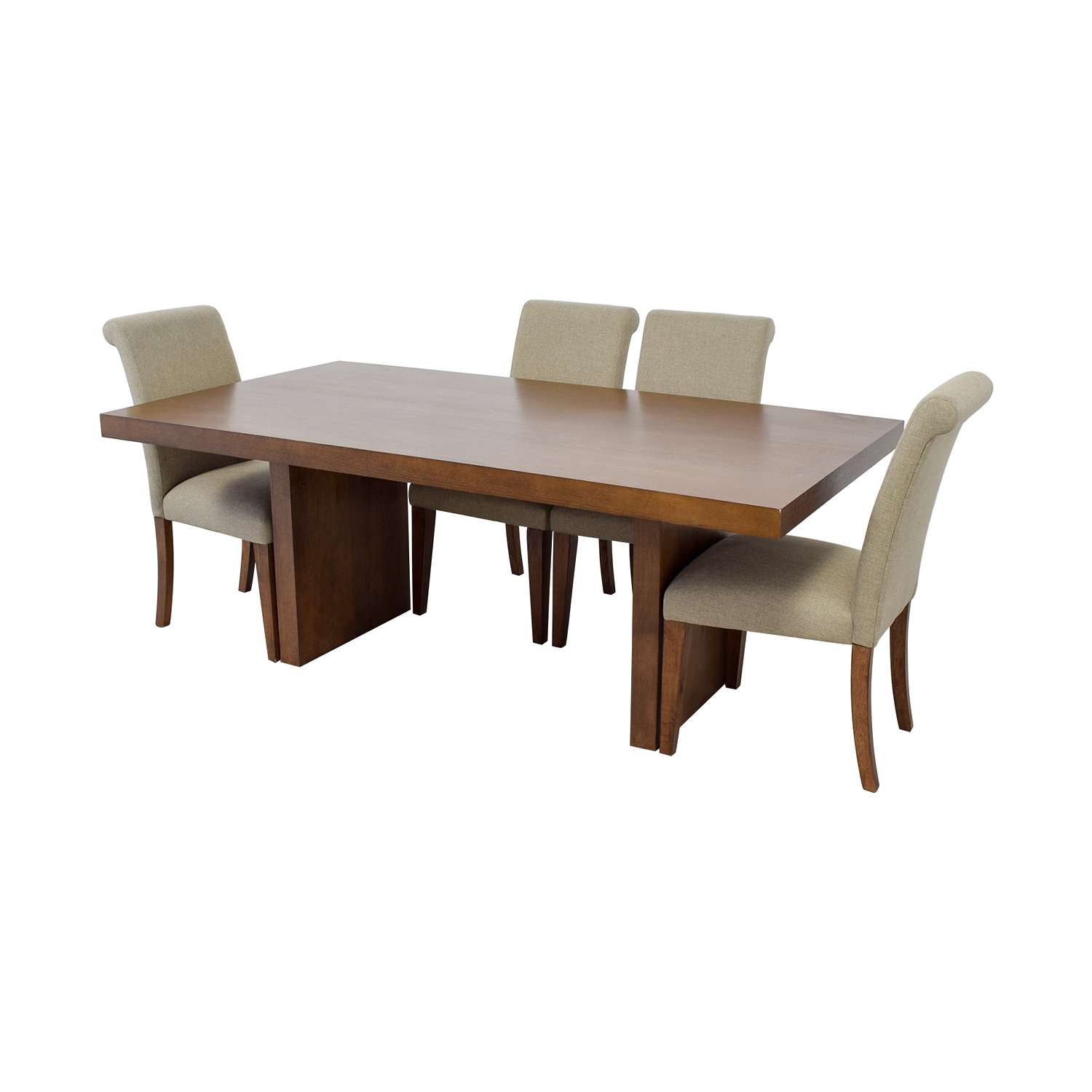 Macy's Macy's Wood Dining Set with Upholstered Chairs on sale