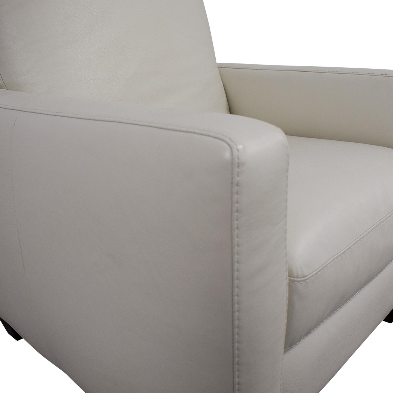 69 Off Natuzzi Natuzzi White Leather Recliner Chairs