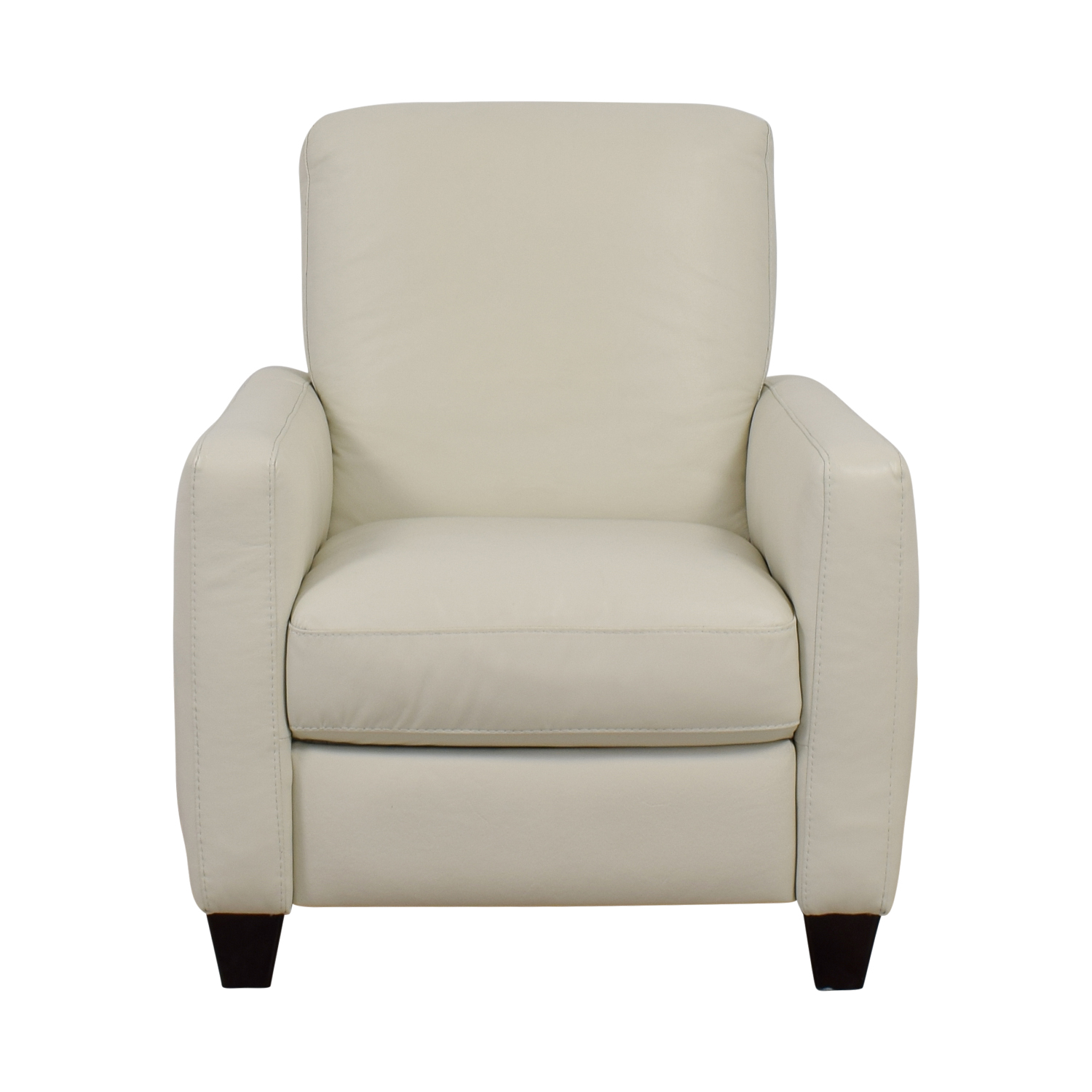 69 Off Natuzzi Natuzzi White Leather Recliner Chairs